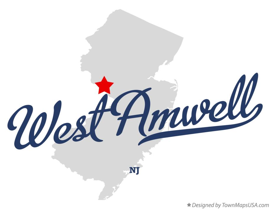 Map of West Amwell New Jersey NJ