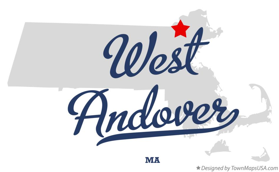 Map of West Andover Massachusetts MA