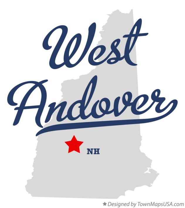 Map of West Andover New Hampshire NH