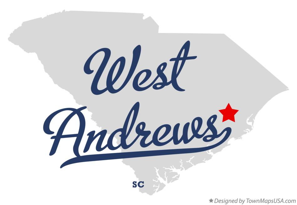Map of West Andrews South Carolina SC