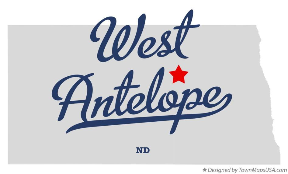 Map of West Antelope North Dakota ND