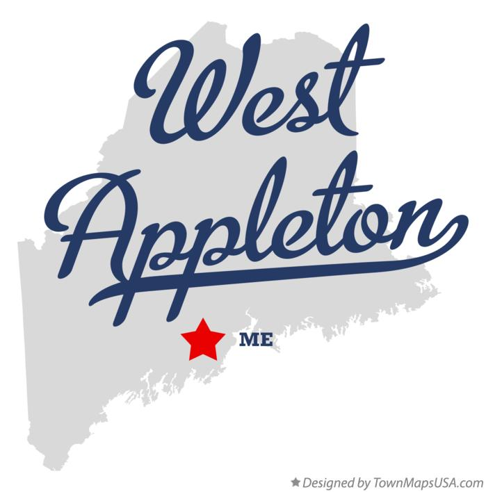Map of West Appleton Maine ME