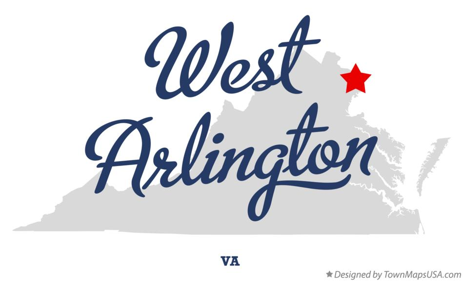 Map of West Arlington Virginia VA