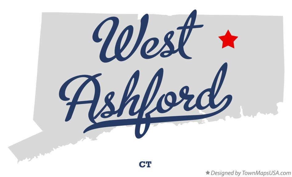 Map of West Ashford Connecticut CT
