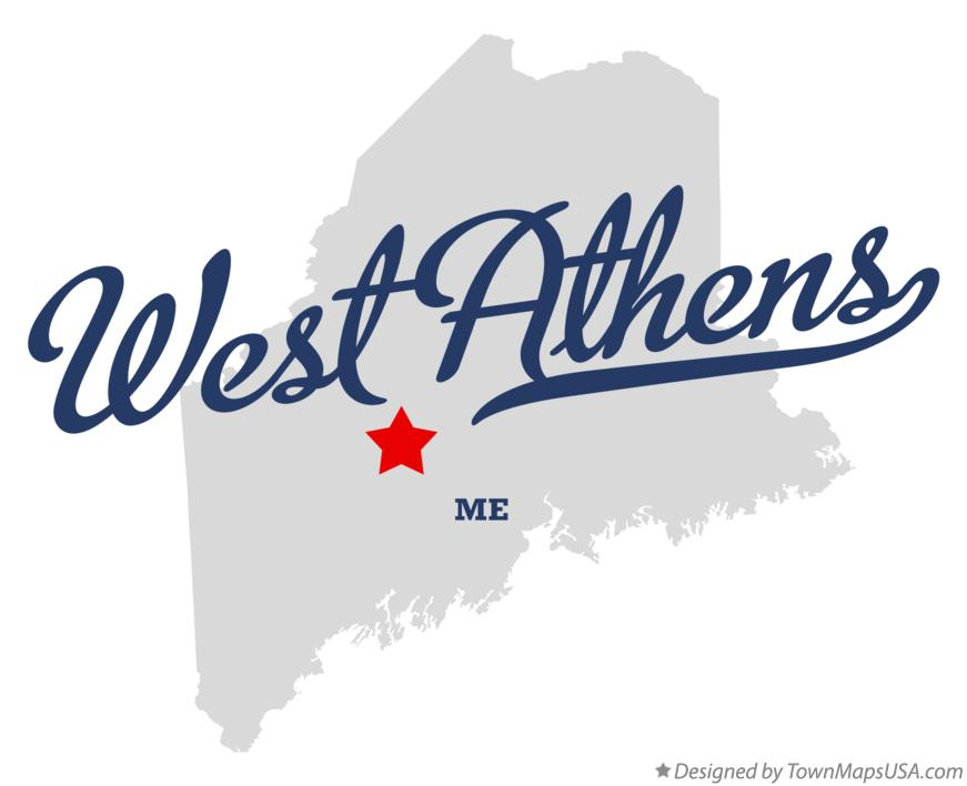 Map of West Athens Maine ME