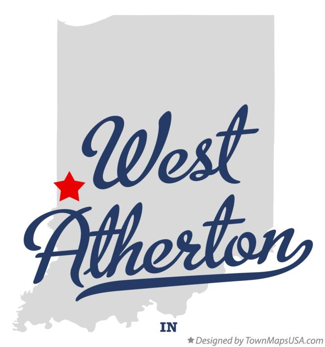 Map of West Atherton Indiana IN