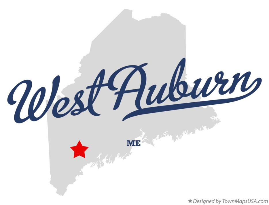 Map of West Auburn Maine ME