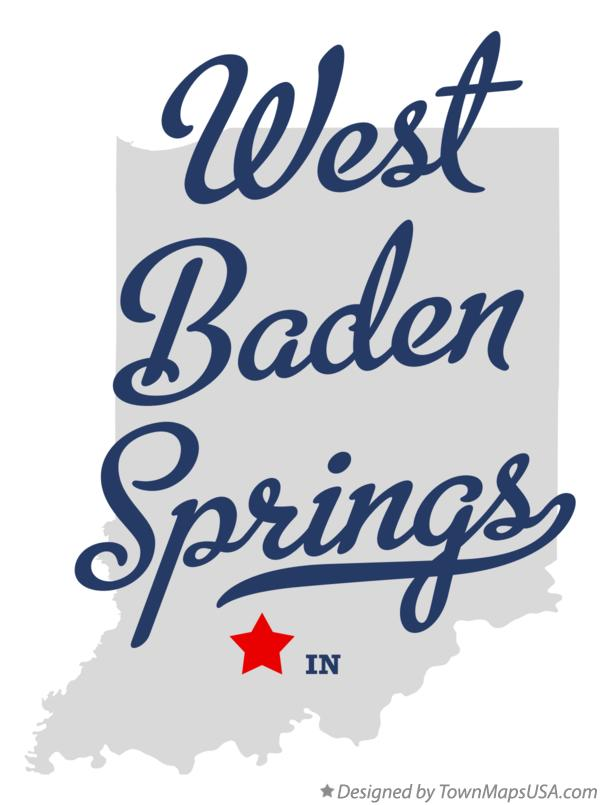 Map of West Baden Springs Indiana IN