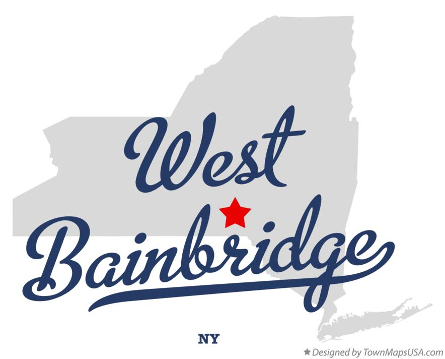 Map of West Bainbridge New York NY