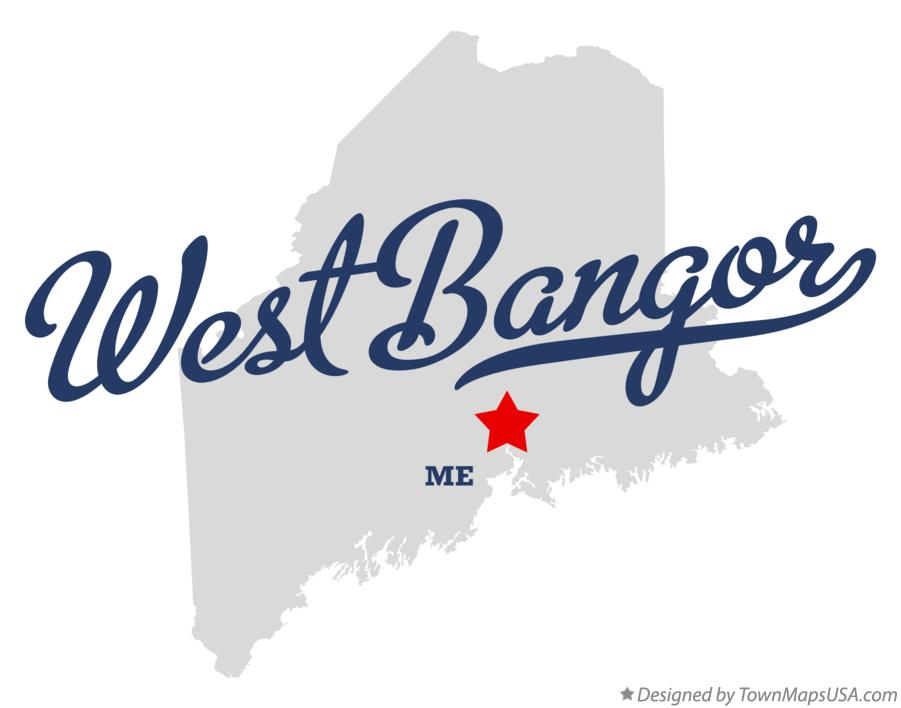 Map of West Bangor Maine ME