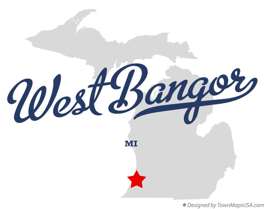 Map of West Bangor Michigan MI