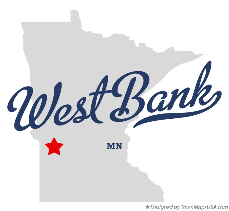 Map of West Bank Minnesota MN