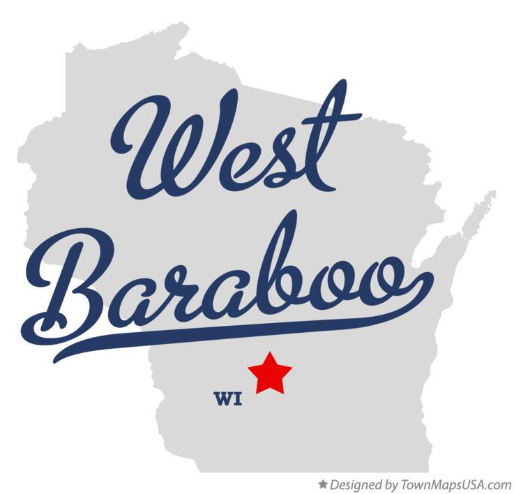 Map of West Baraboo Wisconsin WI