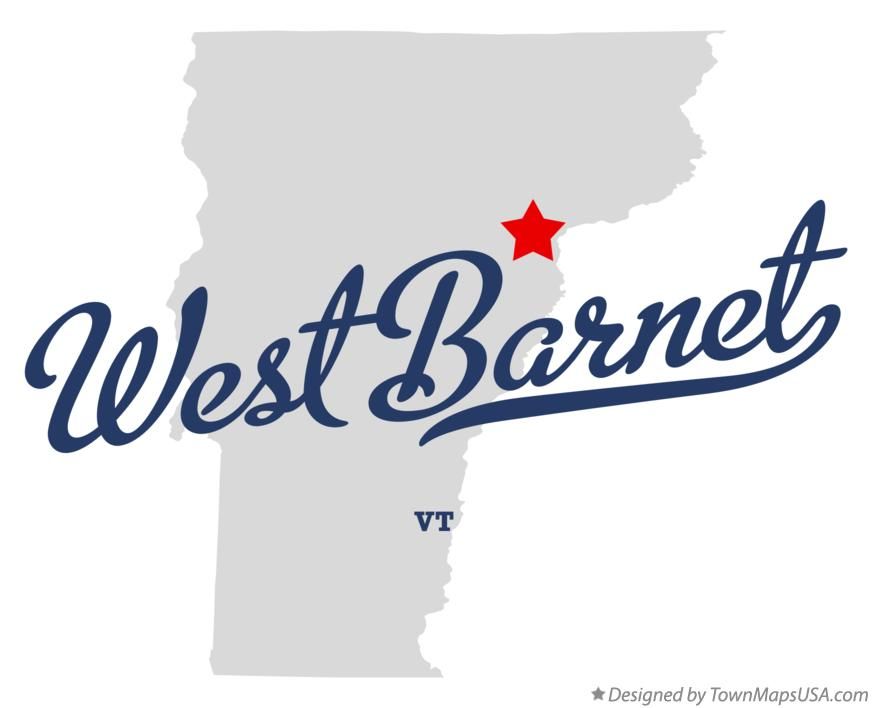 Map of West Barnet Vermont VT