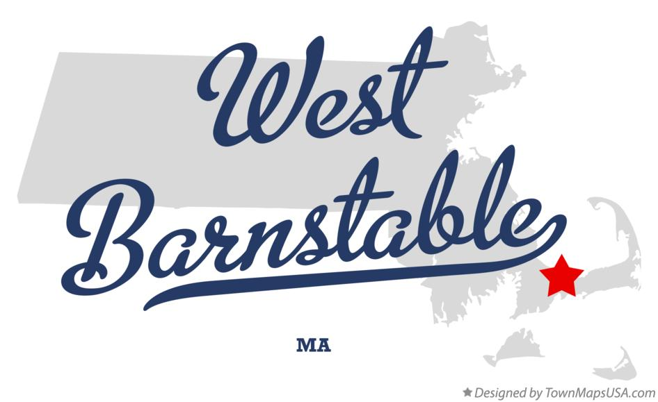 Map of West Barnstable Massachusetts MA