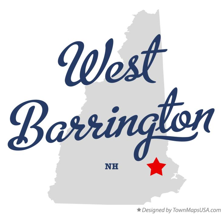 Map of West Barrington New Hampshire NH