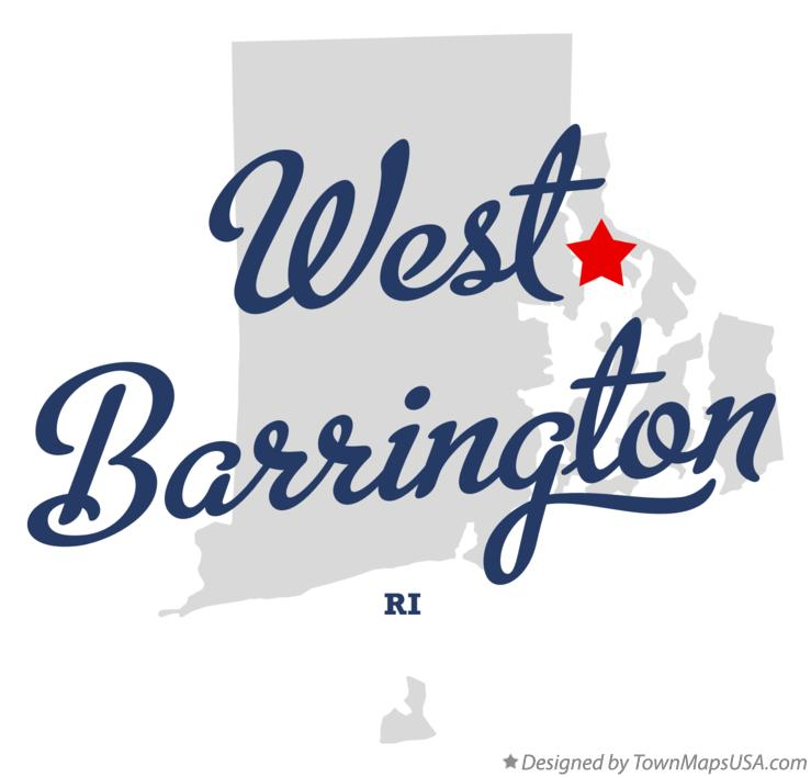Map of West Barrington Rhode Island RI
