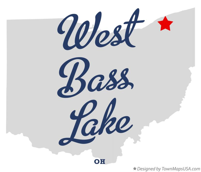 Map of West Bass Lake Ohio OH