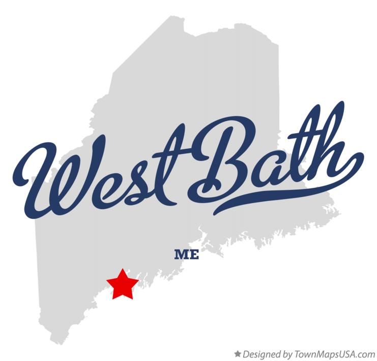 Map of West Bath Maine ME