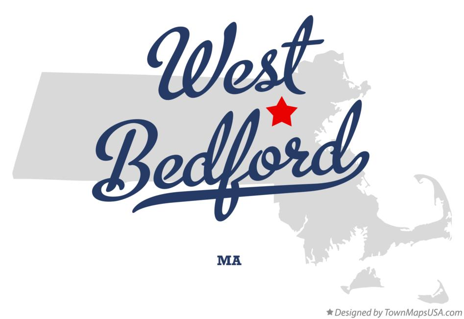 Map of West Bedford Massachusetts MA