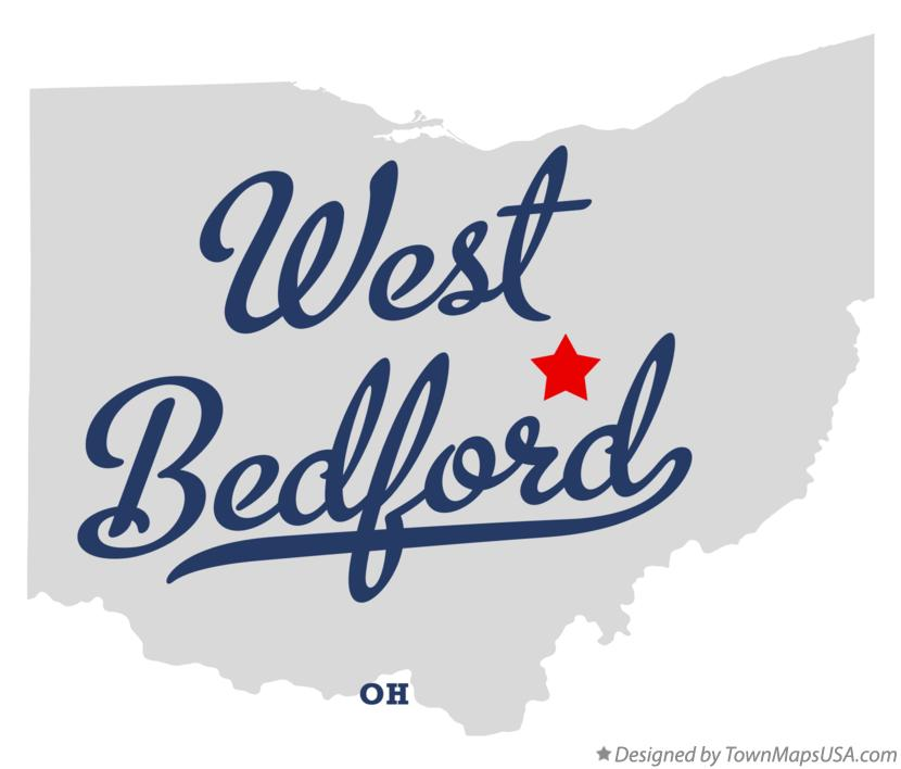 Map of West Bedford Ohio OH