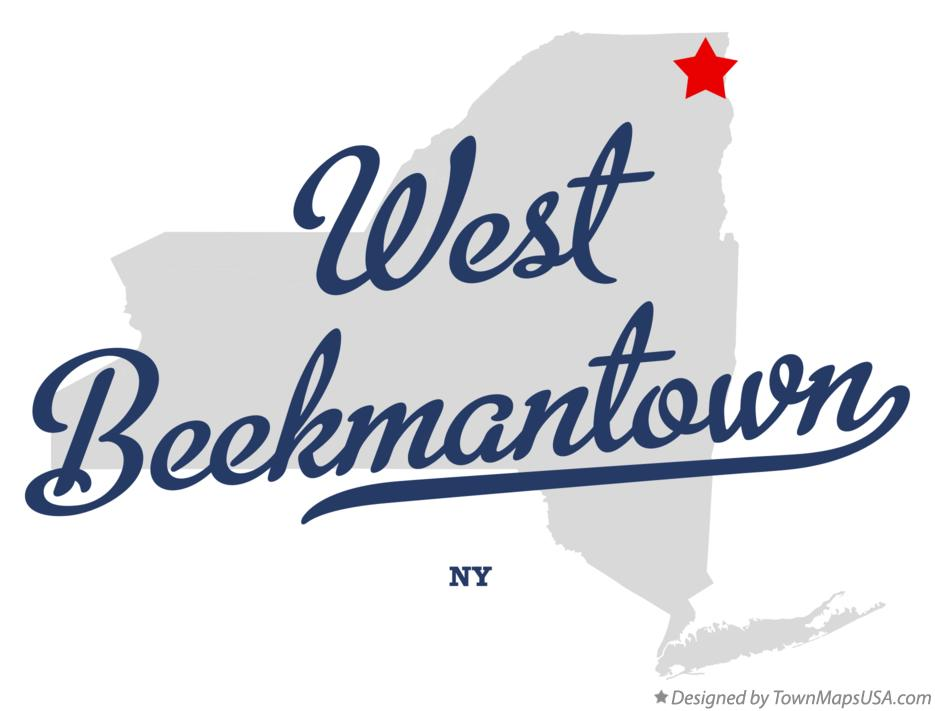 Map of West Beekmantown New York NY