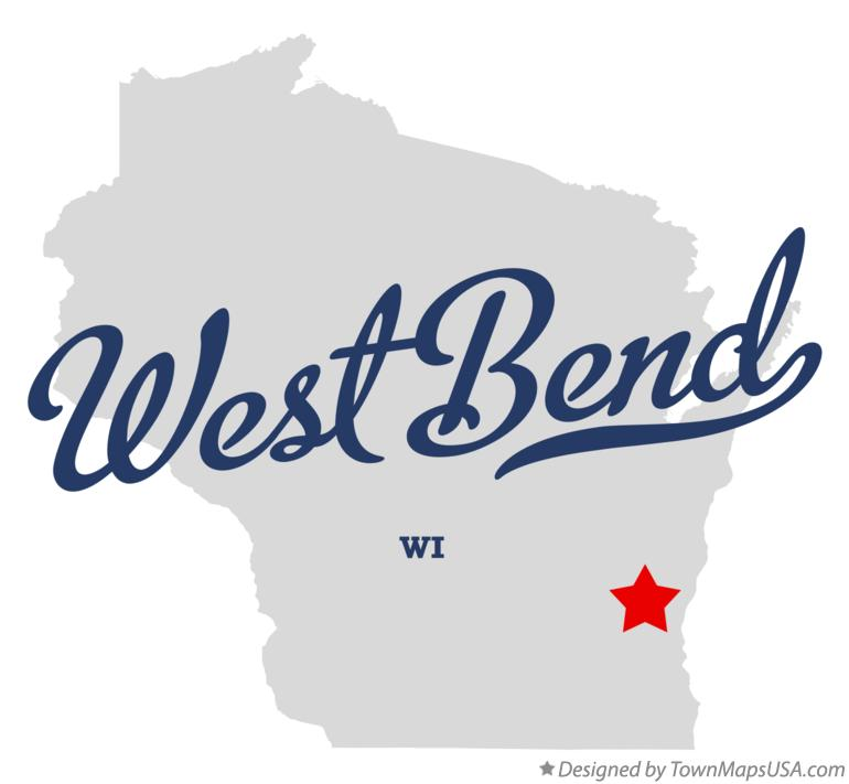 Map of West Bend Wisconsin WI