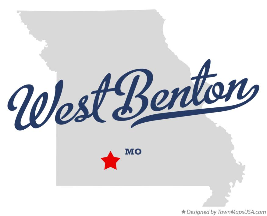 Map of West Benton Missouri MO