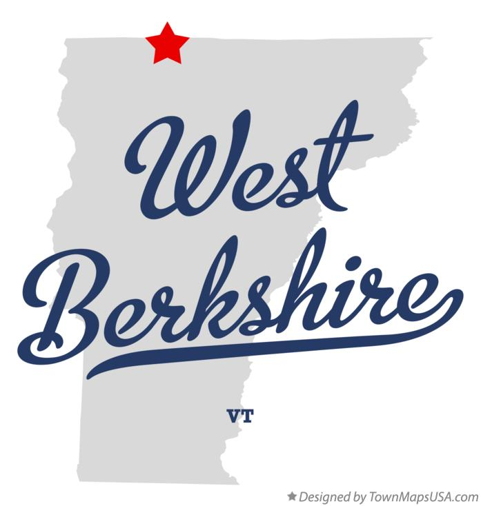 Map of West Berkshire Vermont VT