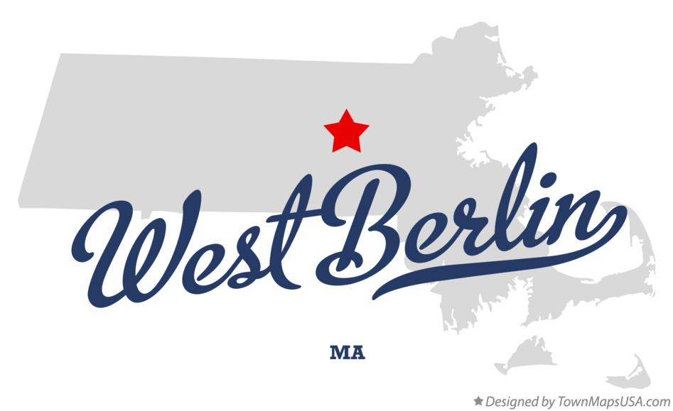 Map of West Berlin Massachusetts MA