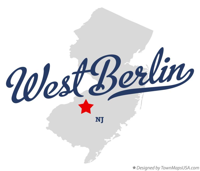 Map of West Berlin New Jersey NJ