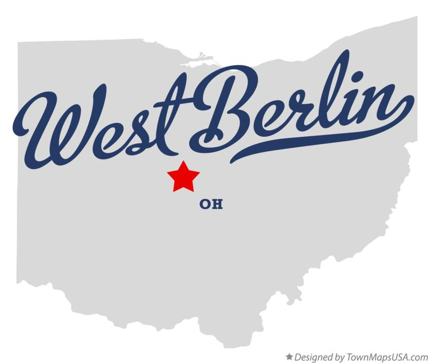 Map of West Berlin Ohio OH