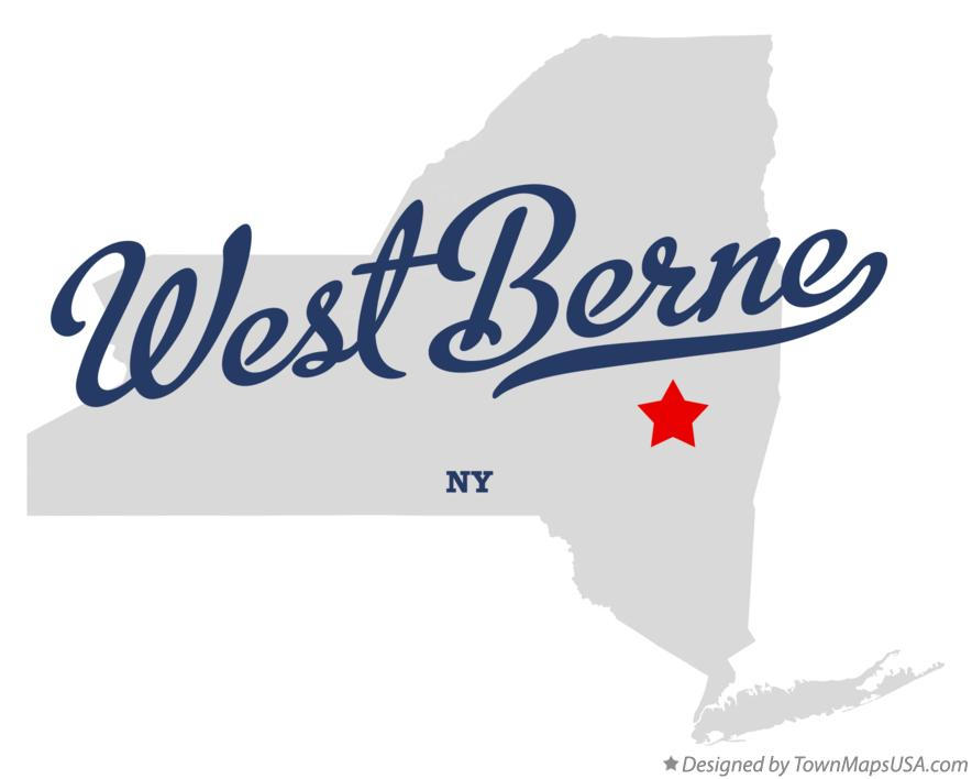 Map of West Berne New York NY
