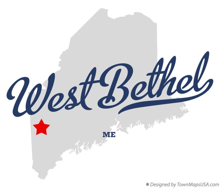 Map of West Bethel Maine ME