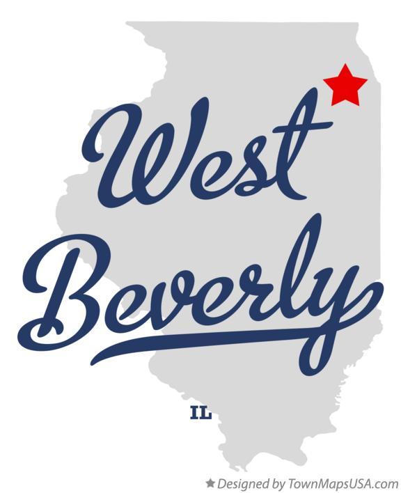 Map of West Beverly Illinois IL