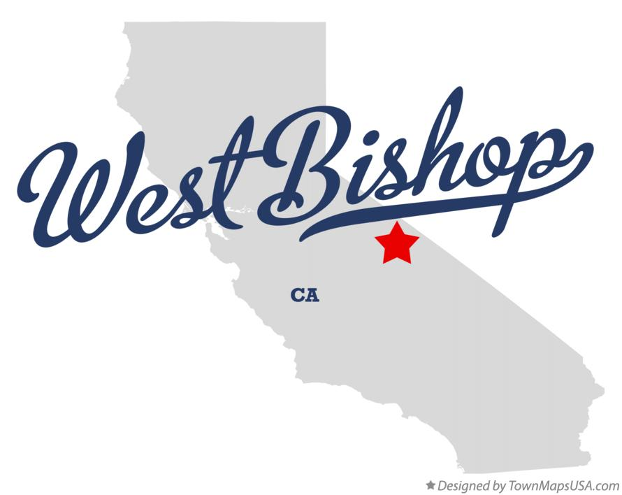 Map of West Bishop California CA