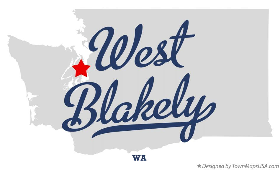 Map of West Blakely Washington WA