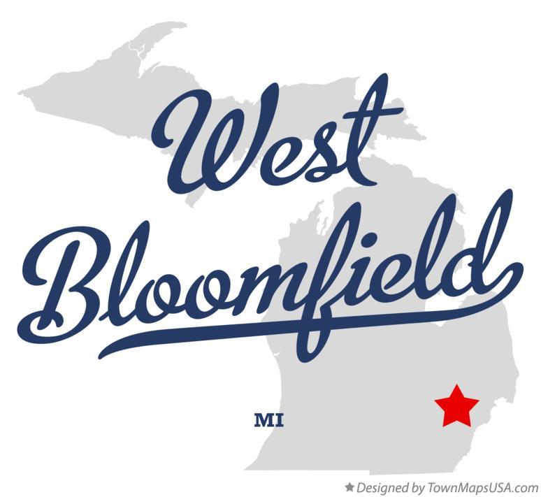 Bloomfield Michigan Map.Map Of West Bloomfield Mi Michigan