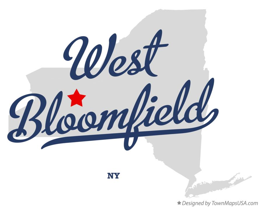 Map of West Bloomfield New York NY