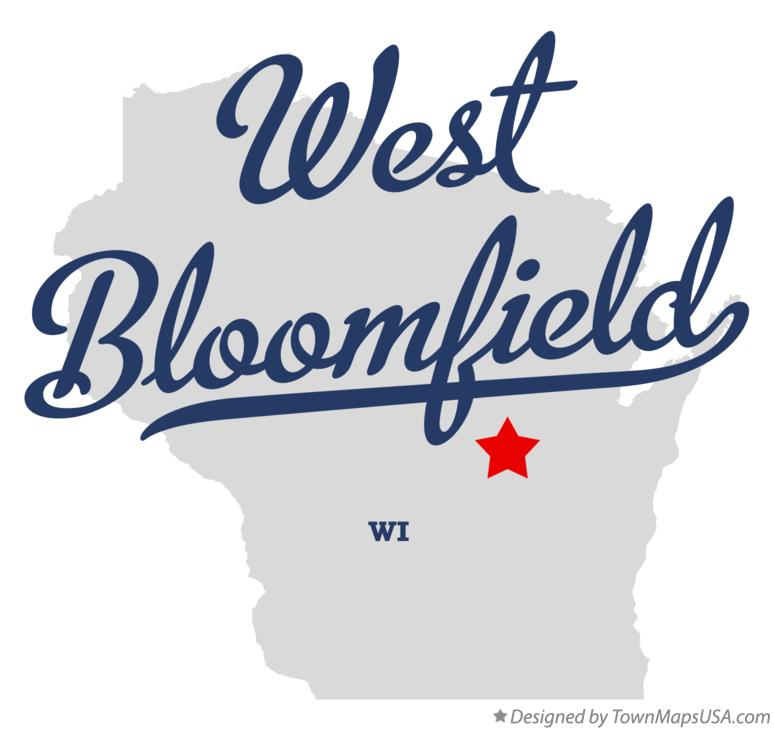 Map of West Bloomfield Wisconsin WI