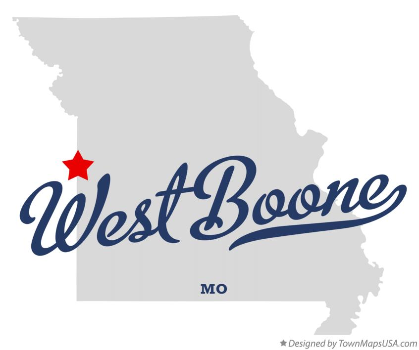 Map of West Boone Missouri MO