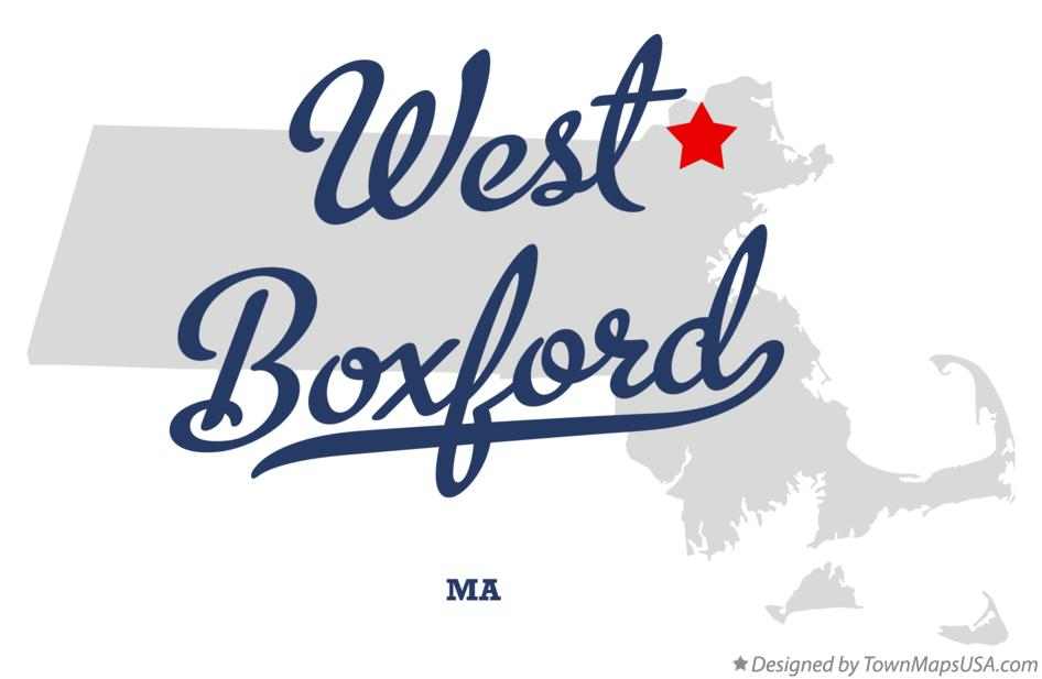 Map of West Boxford Massachusetts MA