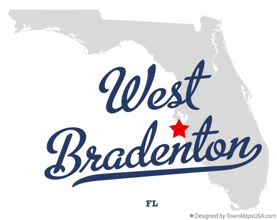 Map Of Bradenton Florida.Map Of West Bradenton Fl Florida