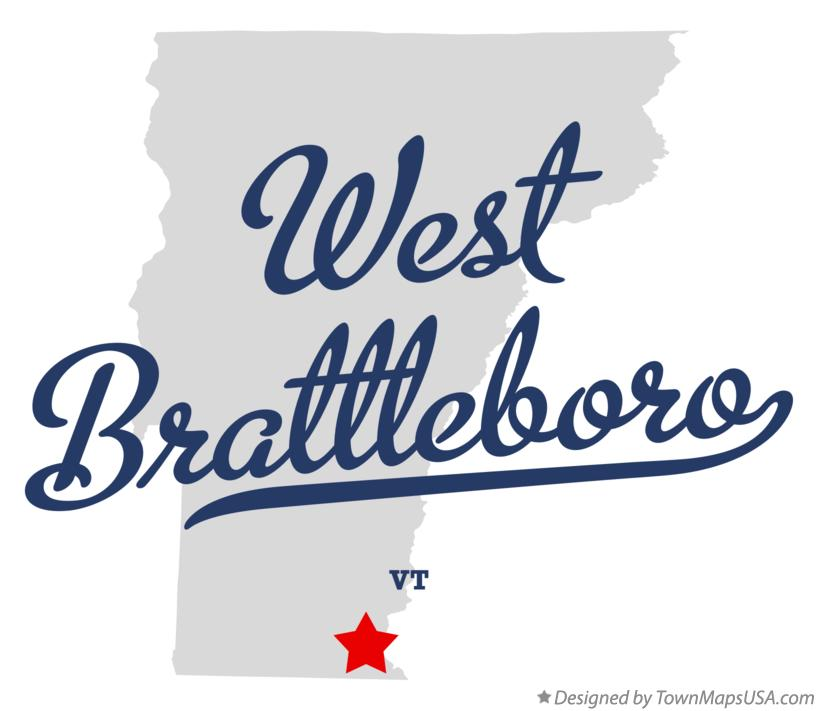 Map of West Brattleboro Vermont VT