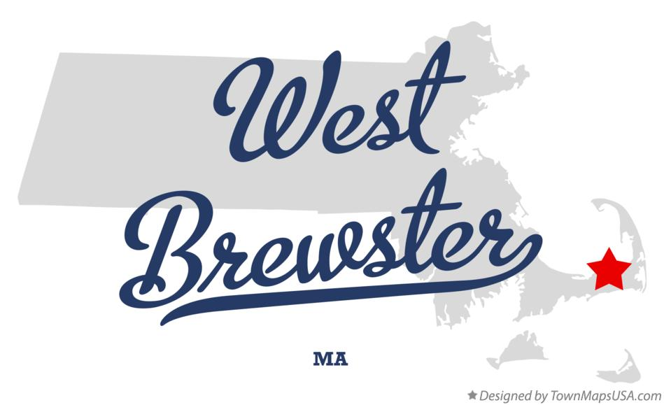 Map of West Brewster Massachusetts MA
