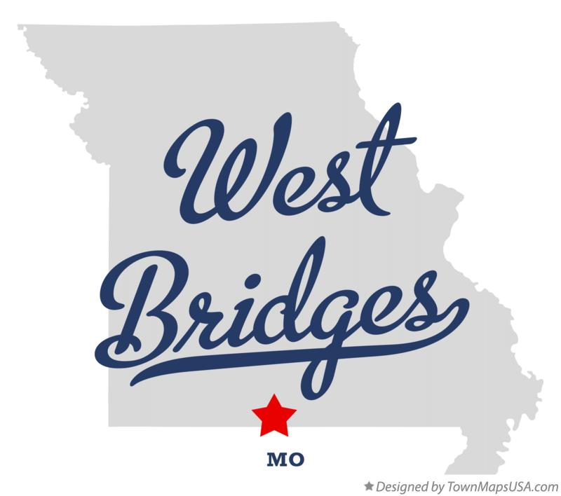 Map of West Bridges Missouri MO