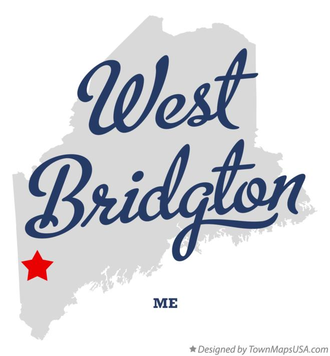 Map of West Bridgton Maine ME