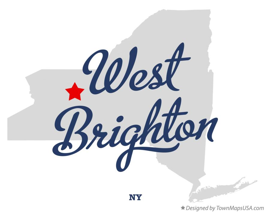 Map of West Brighton New York NY