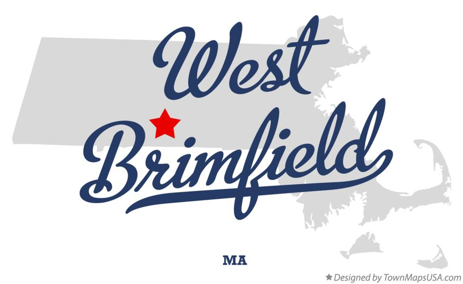 Map of West Brimfield Massachusetts MA