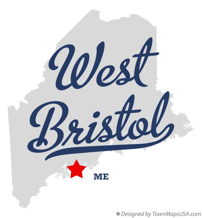 Map of West Bristol Maine ME
